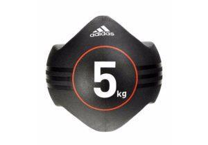 Медбол Adidas черный с ручками 5 кг