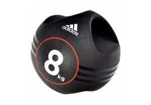 Медбол Адидас 8 кг черный с ручками
