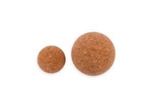 Компактный пробковый мячик 5,5, 9 см для самомассажа