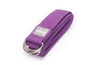 Ремень Yamala фиолетовый для йоги от Bodhi